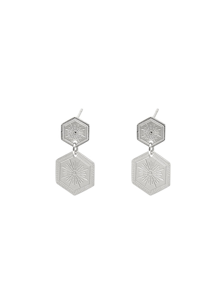LADYLIKE FASHION Earrings Shine On Silver