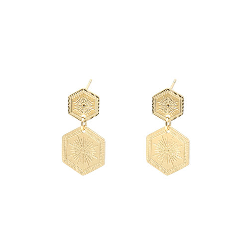 LADYLIKE FASHION Earrings Shine On Gold