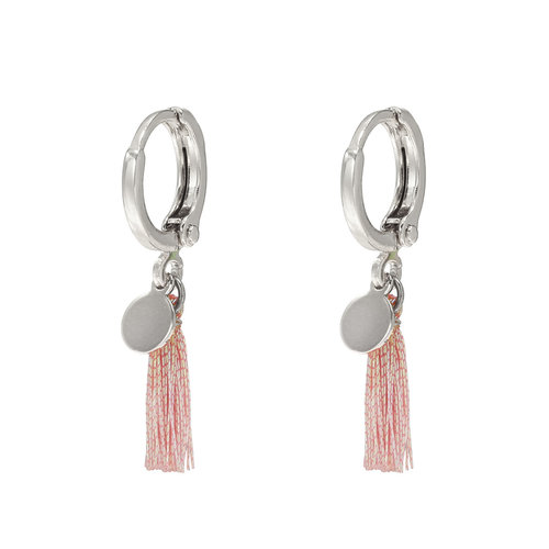 Ladylike  Fashion Earrings Shiny Tassel Silver
