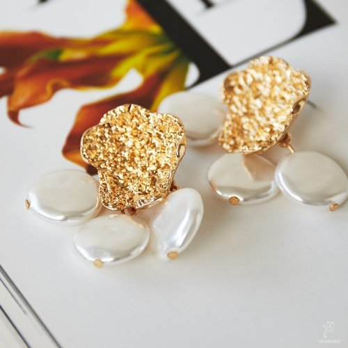 LADYLIKE FASHION Earrings Bohemian Pearl Gold