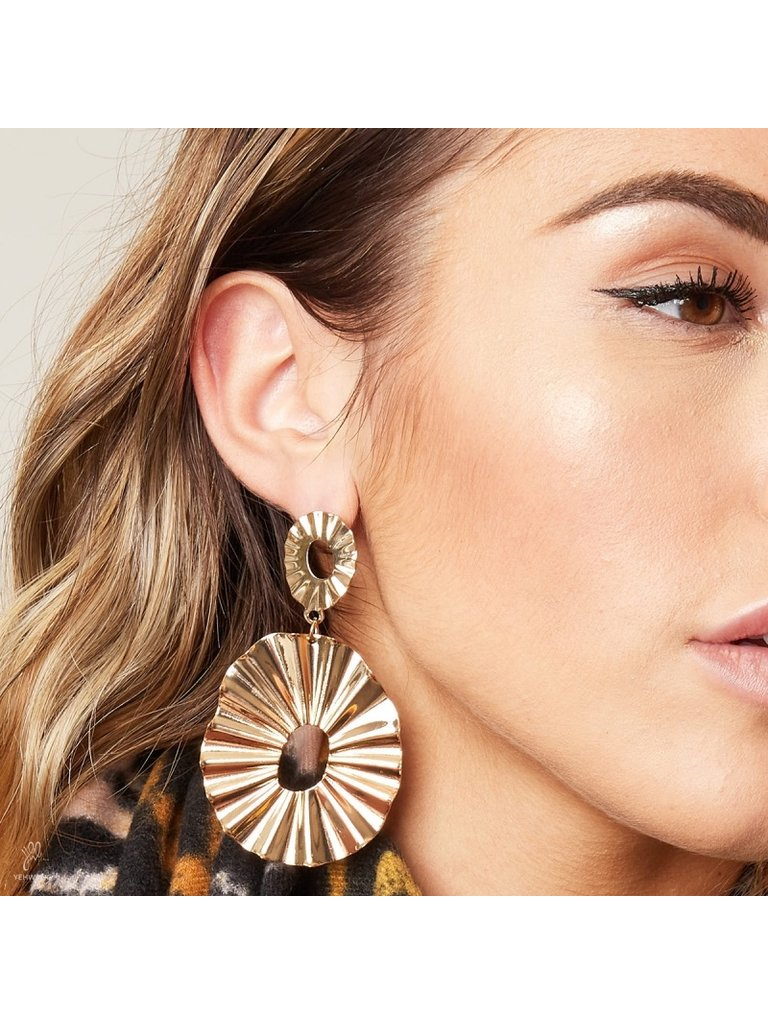LADYLIKE FASHION Earrings Winter Glow XL Gold
