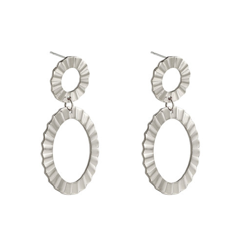 LADYLIKE FASHION Earrings Hoopla Silver
