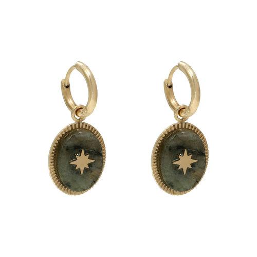 LADYLIKE FASHION Earrings Stoned Grey