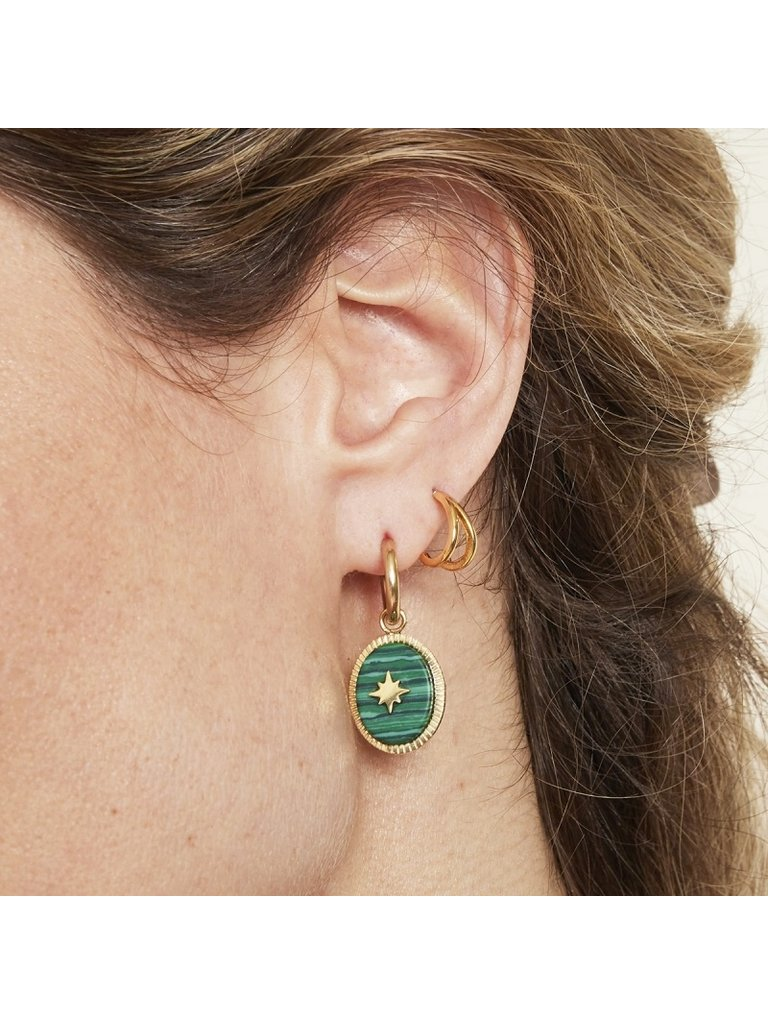 LADYLIKE FASHION Earrings Stoned Green
