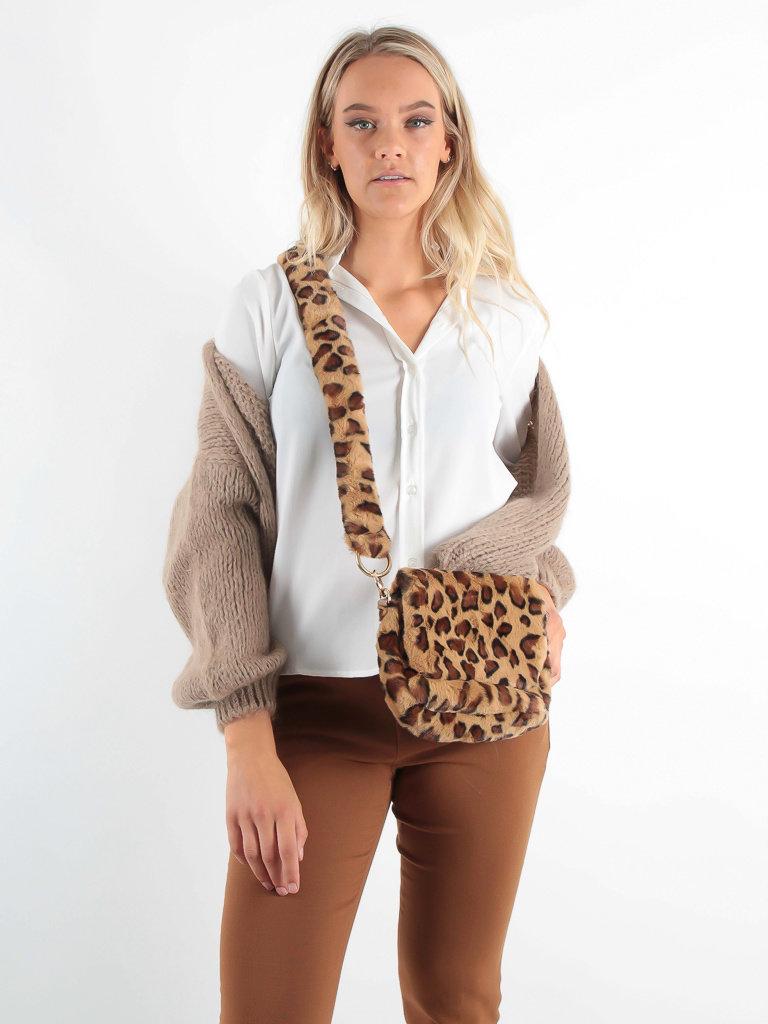 LADYLIKE FASHION Bag Fluffy Leopard Beige
