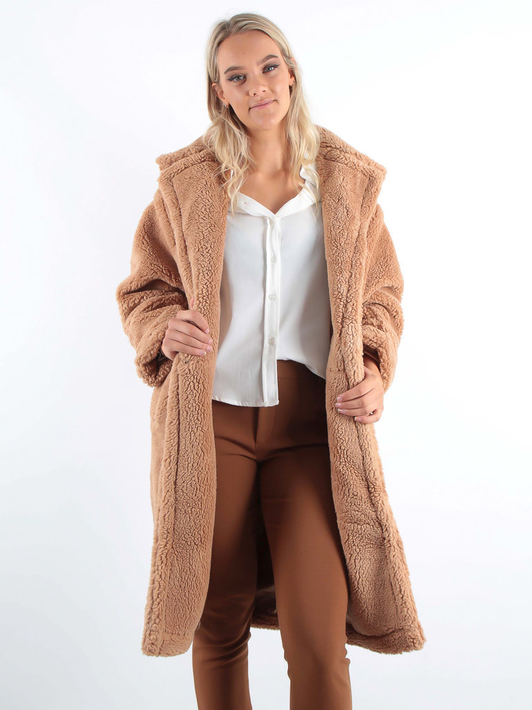 K.ZELL Oversized Teddy Coat Camel