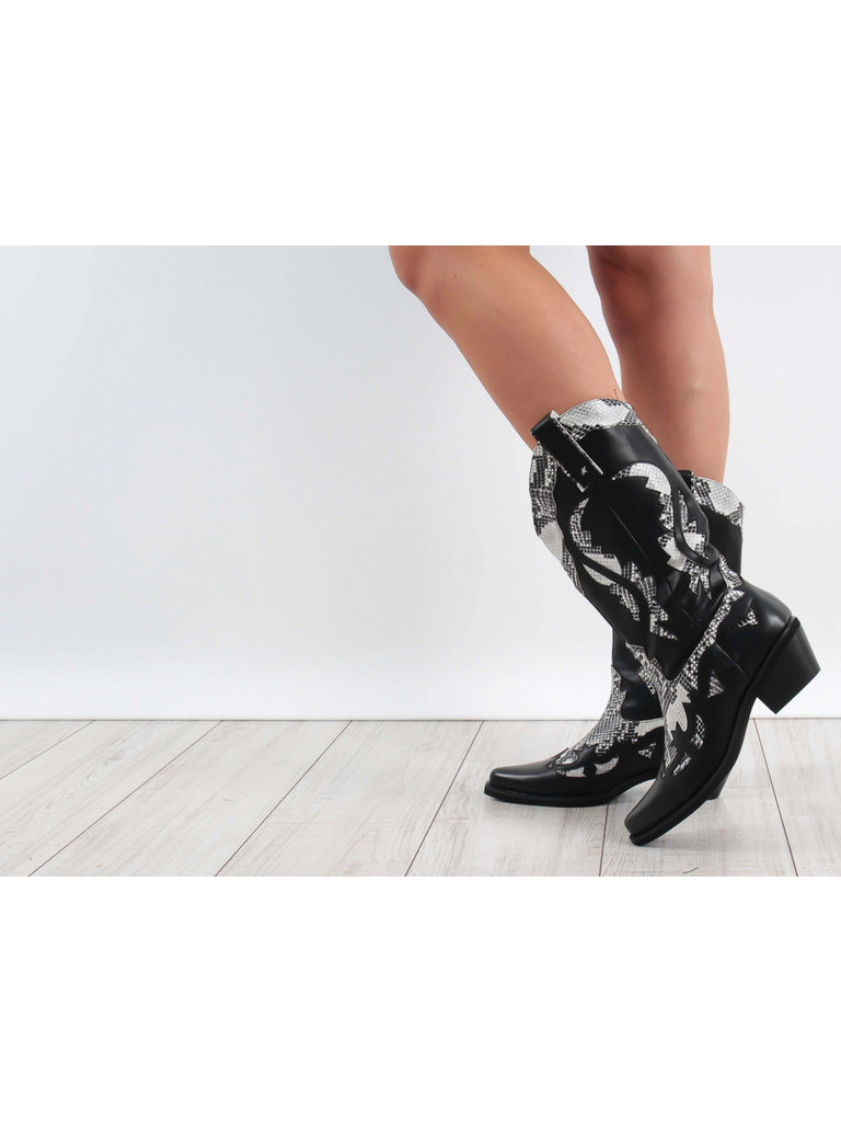 LADYLIKE FASHION Western Boots Black