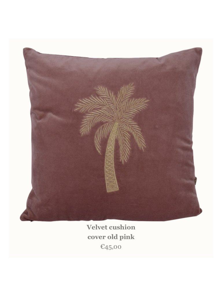 Palmtree Cushion Old Rose