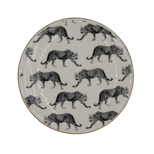 HOUSE VITAMIN Porcelain Plate Leopard