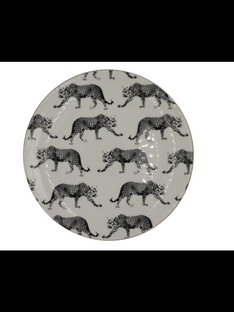 HOUSE VITAMIN Porcelain Plate Large Leopard