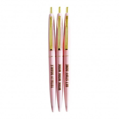 STUDIO STATIONERY Roze Balpen Set