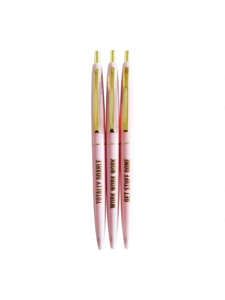 STUDIO STATIONERY Pretty Pink Ballpen Set