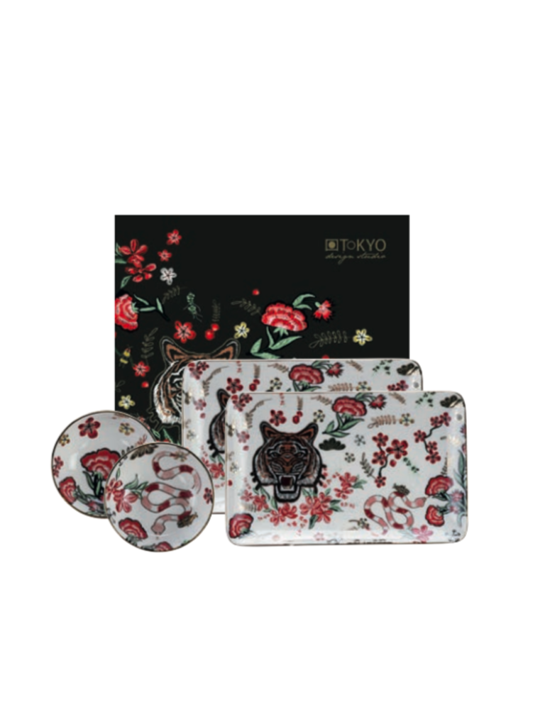 CNB ENTERPRISES - LADYLIKE FASHION Sushi Plate Set Tiger