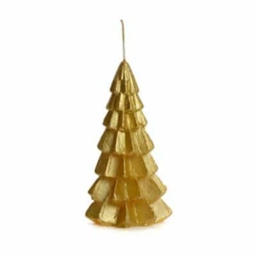 RUSTIK LYS Tree Candle Gold Small