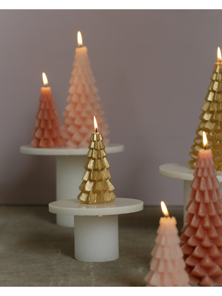 RUSTIK LYS Tree Candle Brique Small