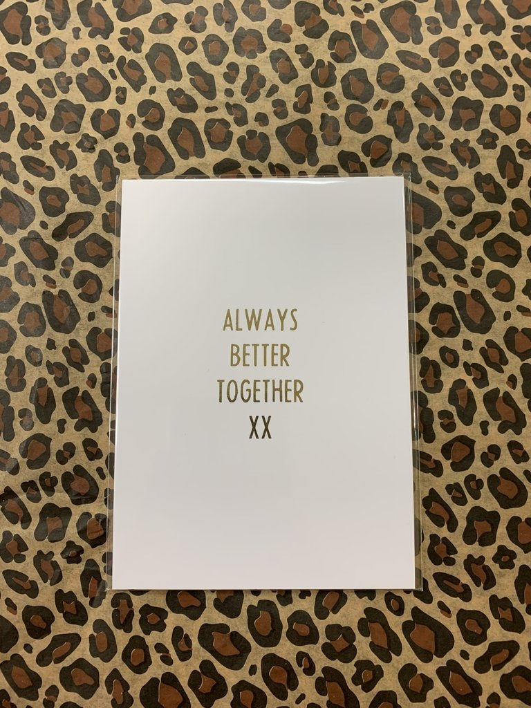 MY PAPERSTATION - LADYLIKE FASHION Postcard Always Better Together XX