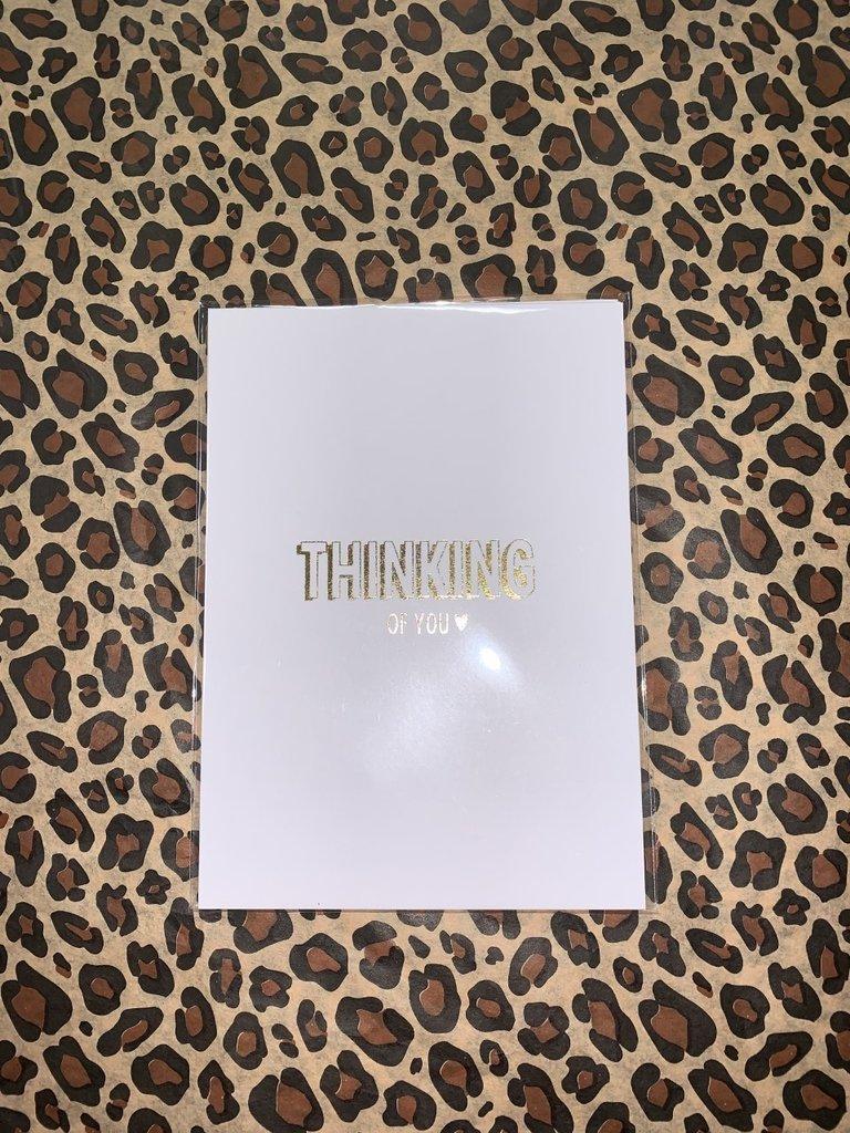 MY PAPERSTATION - LADYLIKE FASHION Postcard Thinking Of You