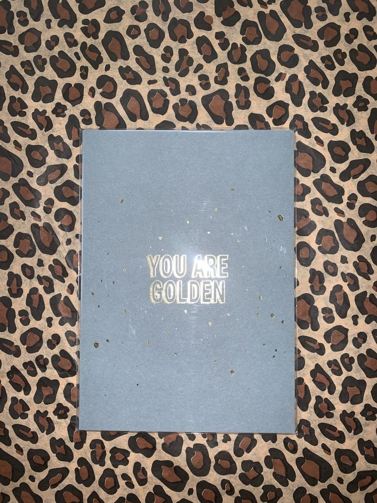 MY PAPERSTATION - LADYLIKE FASHION Postcard You Are Golden