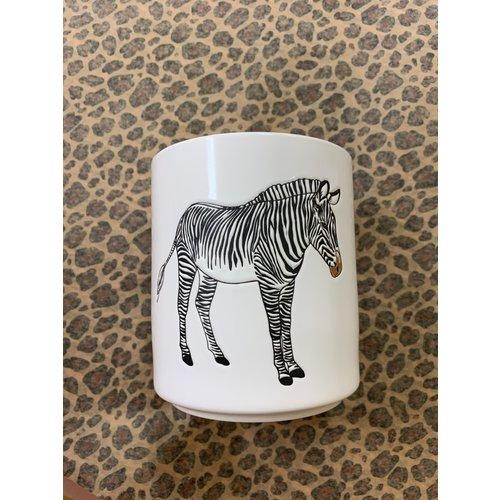 HOUSE VITAMIN Bloemen Pot Zebra