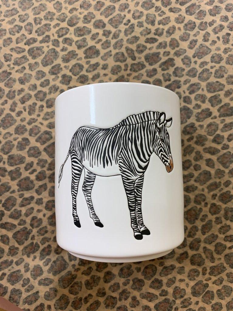 HOUSE VITAMIN Ceramic Flower Pot Zebra
