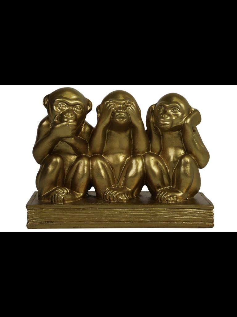 HOUSE VITAMIN Emoji Monkeys Gold
