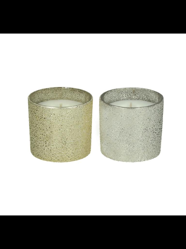POMAX - LADYLIKE FASHION Sparkle Set 2 Geurkaarsen Glas