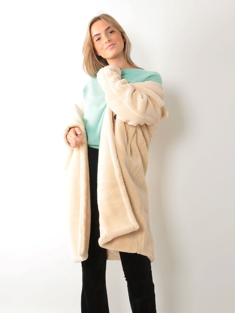 COPPEROSE Teddy Coat Ecru