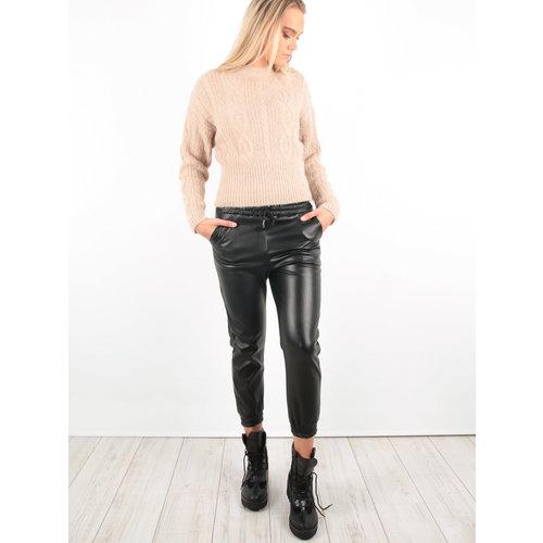 LADYLIKE FASHION PU Leather Look Trousers Black