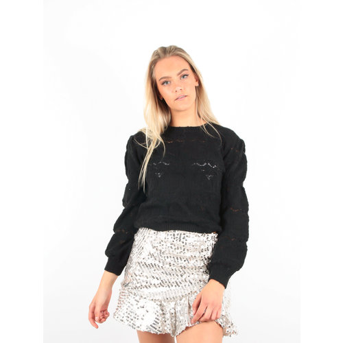 BISOU'S PROJECT Puff Sleeve Jumper Black