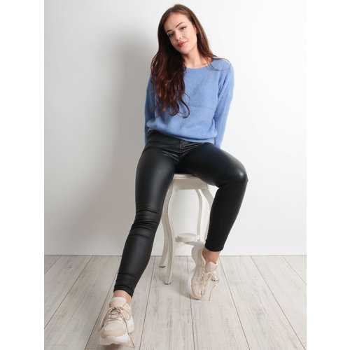 QUEEN HEARTS - LADYLIKE FASHION Leather Look Jeans Black