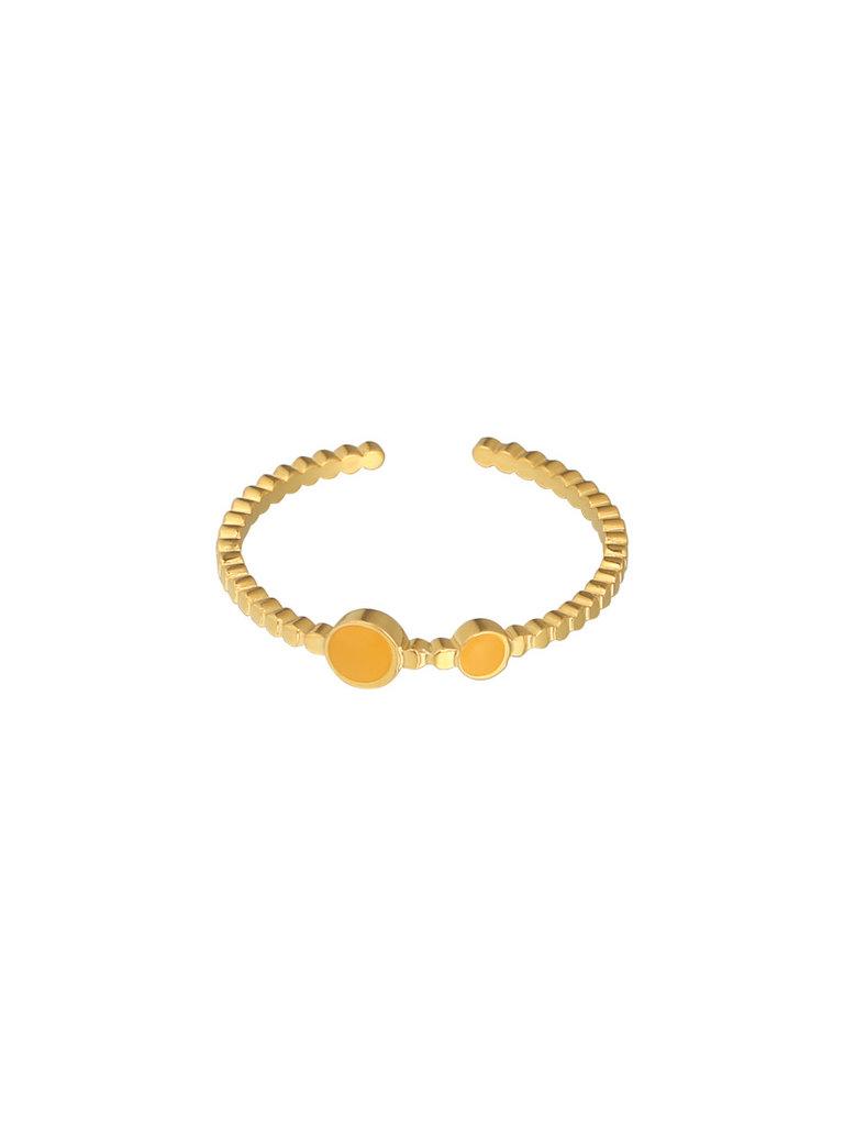 LADYLIKE FASHION Ring Adorable Color Yellow