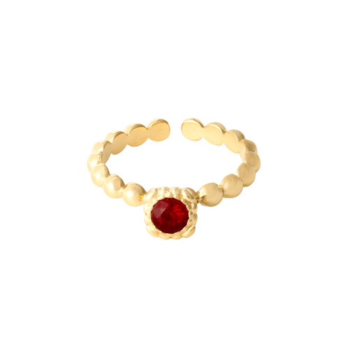LADYLIKE THE LABEL Ring Rock Your Color Red