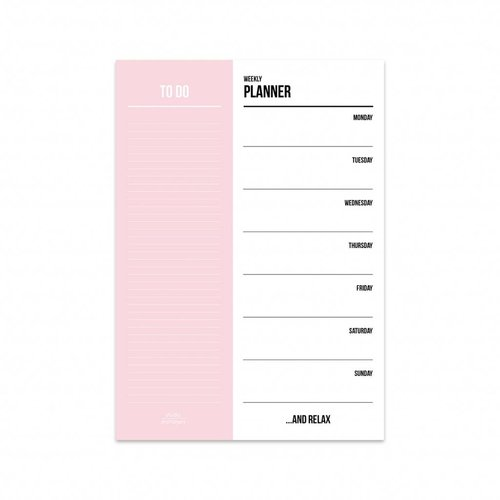 STUDIO STATIONERY - LADYLIKE FASHION Weekly planner pink