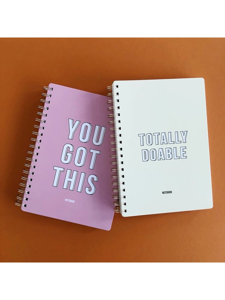 STUDIO STATIONERY - LADYLIKE FASHION Notebook You got this Pink