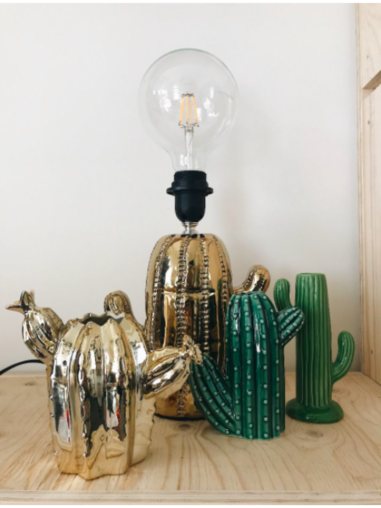 HOUSE VITAMIN Golden Cactus Vase