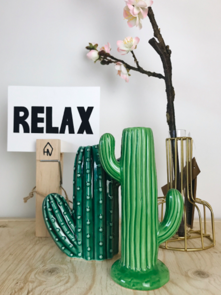 HOUSE VITAMIN Cactus vase green small