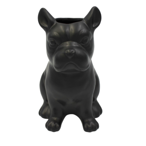 HOUSE VITAMIN Ceramic Bulldog Black