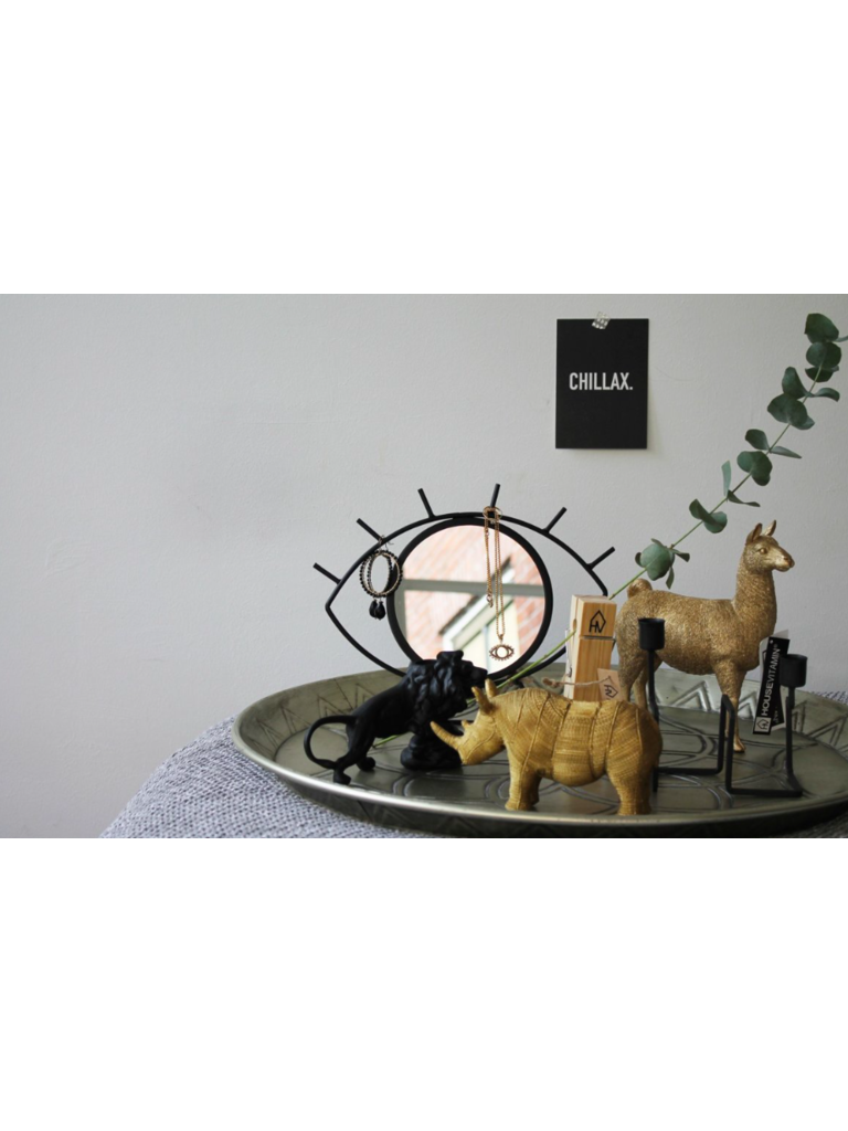 HOUSE VITAMIN - LADYLIKE FASHION Dierenbeeld Neushoorn Goud