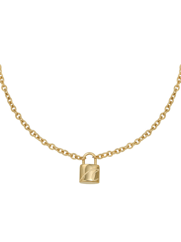 YEHWANG Necklace Special Lock Gold