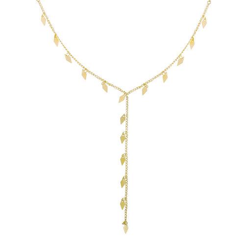 YEHWANG Necklace Dancing Diamonds Gold
