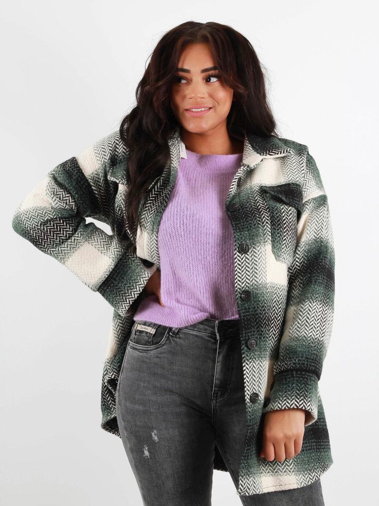 LIULI Checkered Blouse/Jacket Green