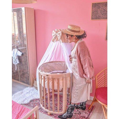 ELLI WHITE Satin Striped Maxi Dress Beige
