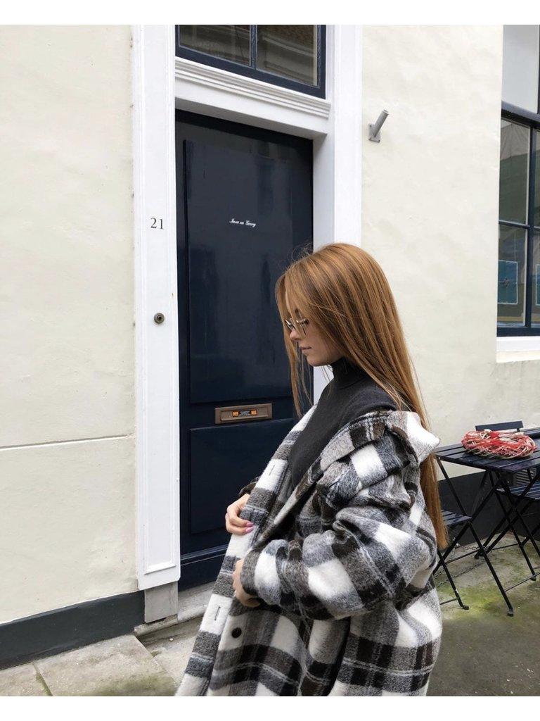 LIULI Checkered Dress/Jacket Brown