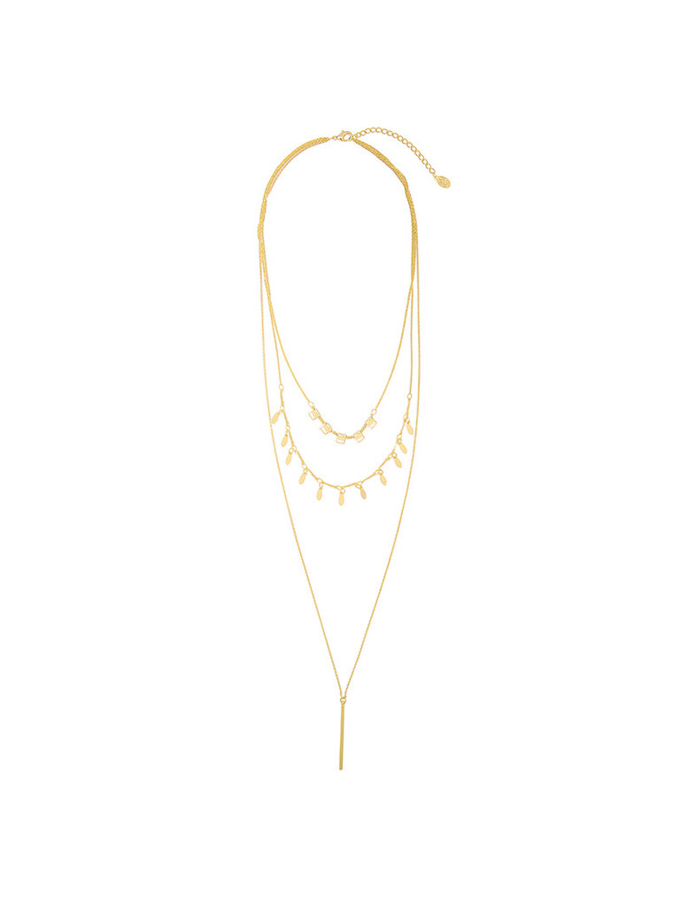 YEHWANG Necklace Chic Charms Gold