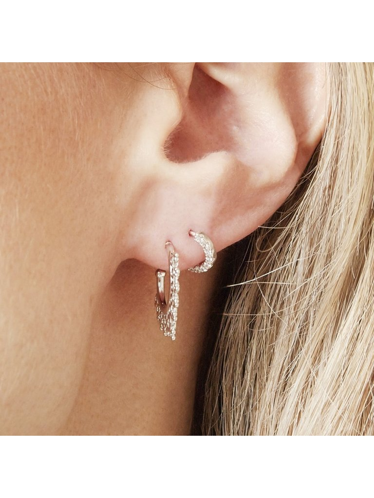 LADYLIKE THE LABEL Earrings Inner Circle Small Silver