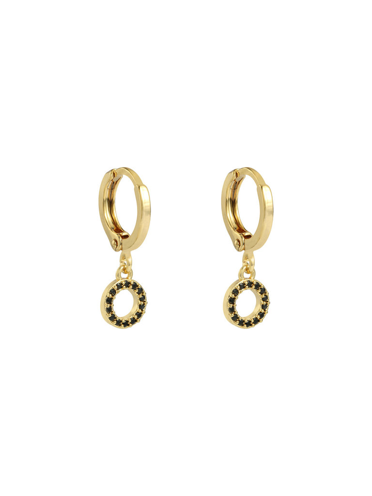 LADYLIKE THE LABEL Earrings Sparkling Circle Gold