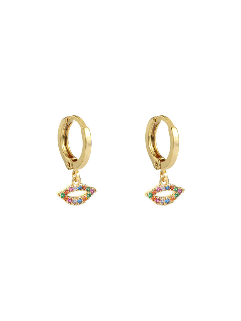 LADYLIKE THE LABEL Earrings Kiss You Gold