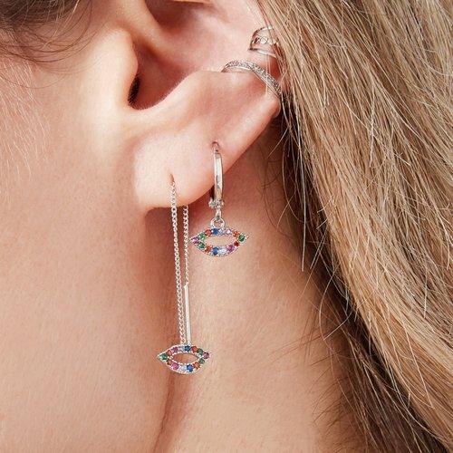 LADYLIKE THE LABEL Earrings Kiss You Silver