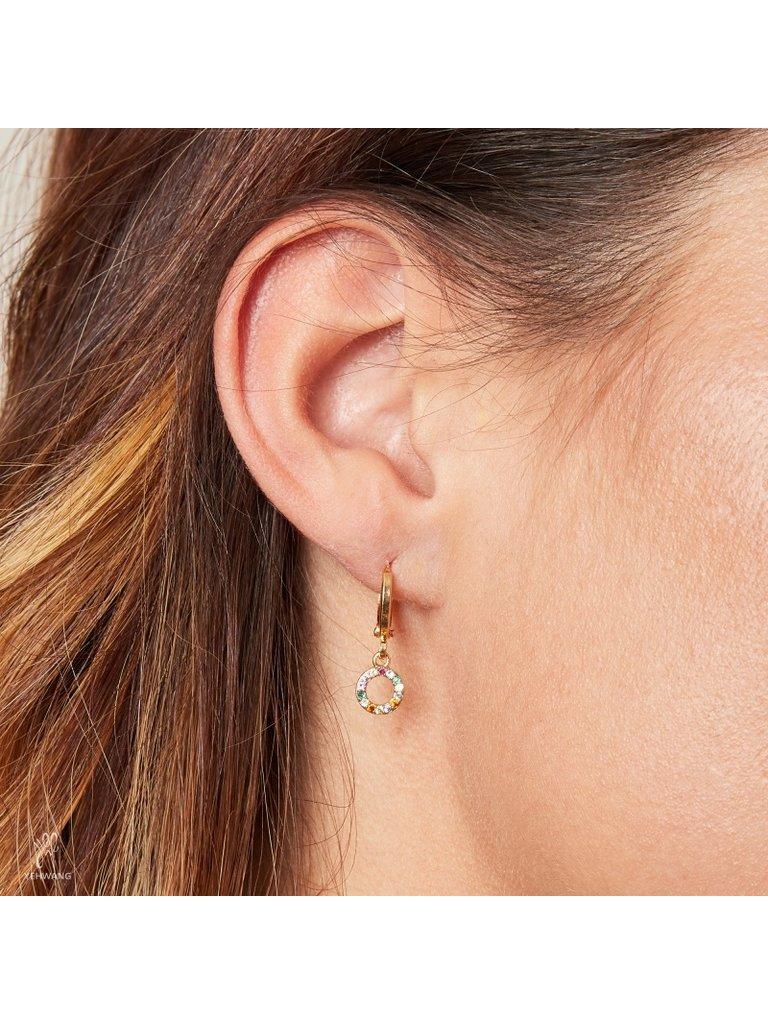 LADYLIKE THE LABEL Earrings Sparkling Circle/multi