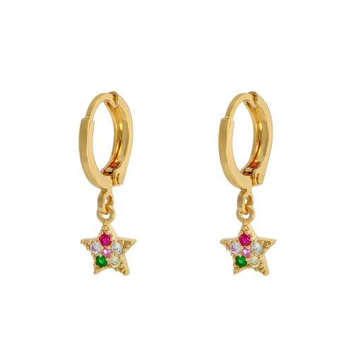 LADYLIKE THE LABEL Earrings Sparkle Star Gold/Multi
